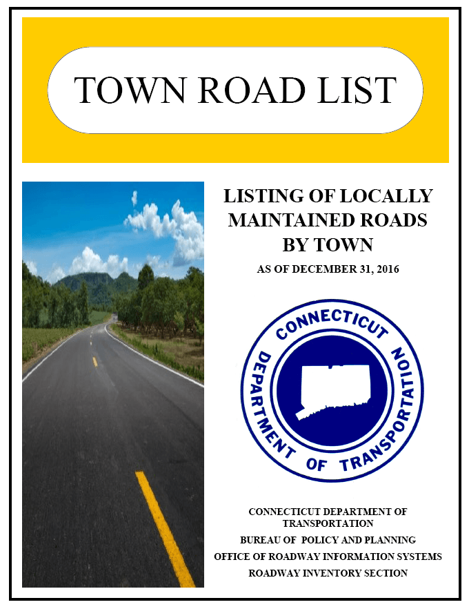Town of Enfield Road List December 2016