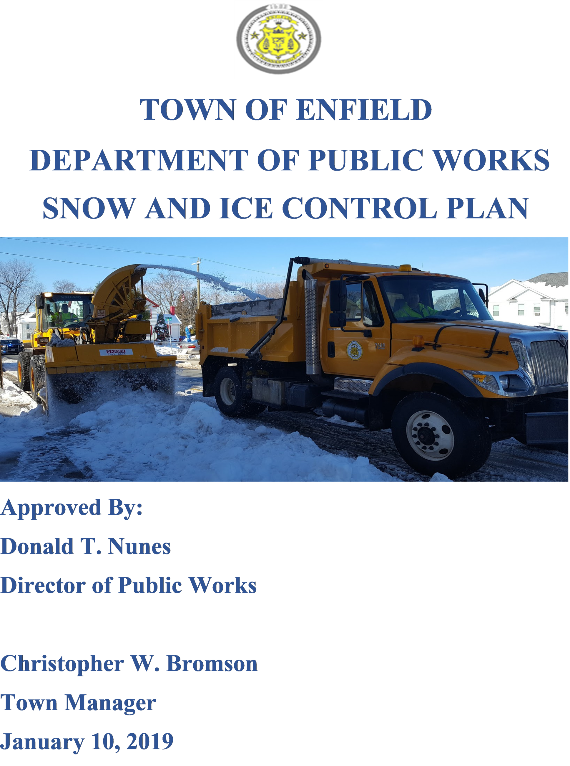 Snow and Ice Control Plan