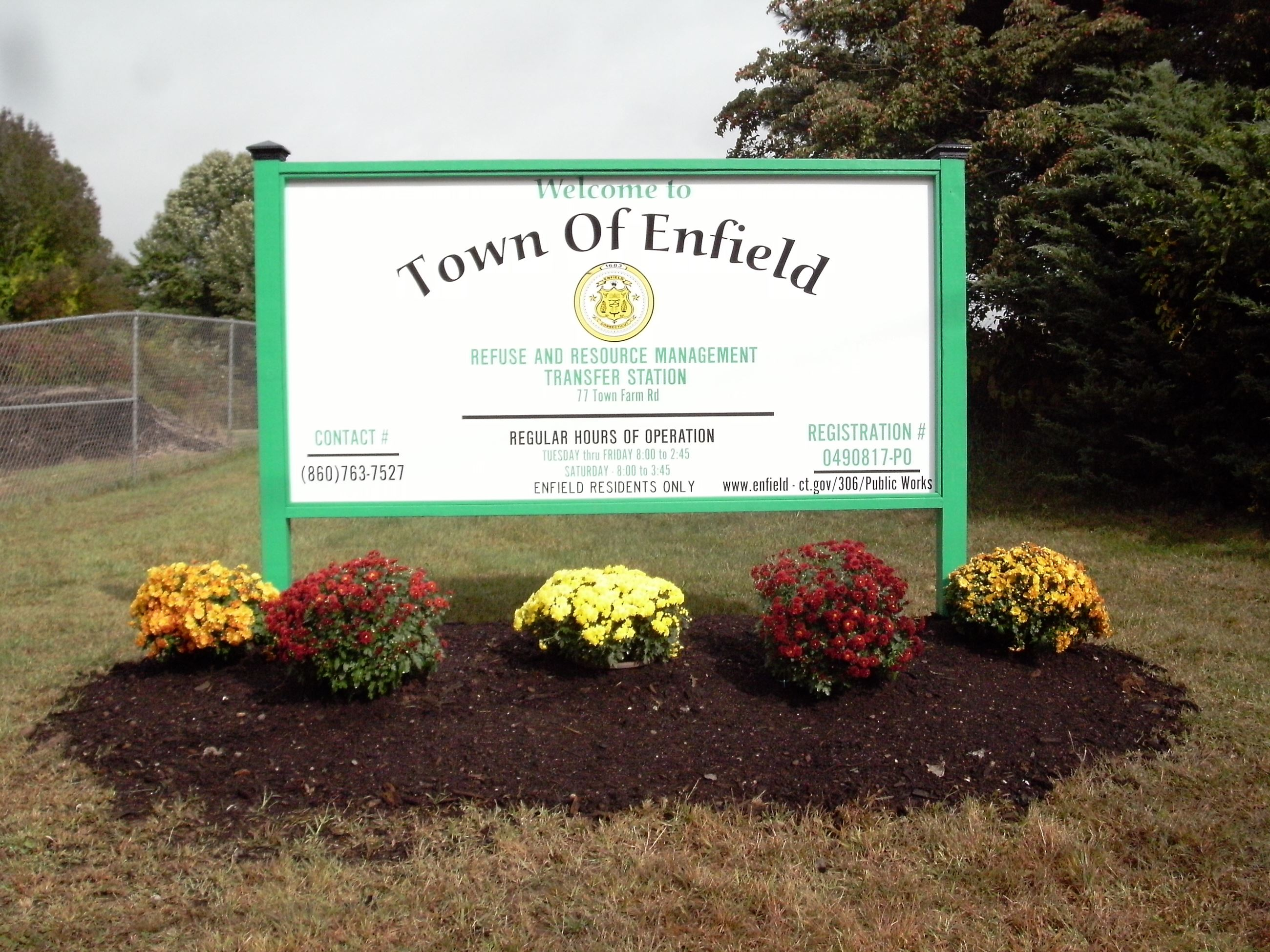 Town Of Enfield Ct >> Transfer Station Enfield Ct Official Website